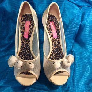 Betsey Johnson Nude Platform Heels